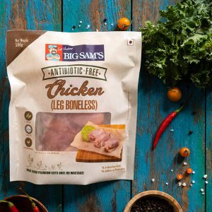 Big Sam's Antibiotic-Free Chicken Leg (Boneless)- 500g
