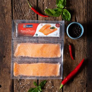 Big Sam's Norwegian Salmon Portions – Double Pack- 150g x 2