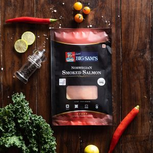 Big Sam's Norwegian Smoked Salmon (Presliced)- 100g