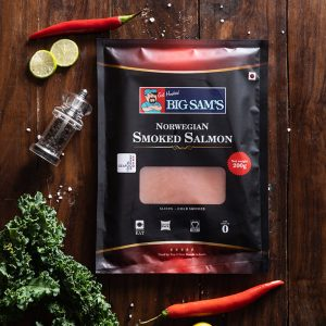Big Sam's Norwegian Smoked Salmon (Presliced)- 200g