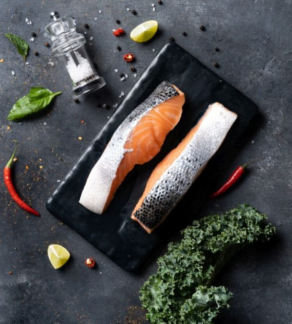 Big Sam's Norwegian Salmon Skin-On Portions- Double Pack- 125g x 2