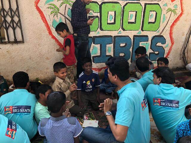 Big Sam's CSR activities at Vatsalya