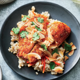 Recipe Spiced Tilapia with Coconut Rice